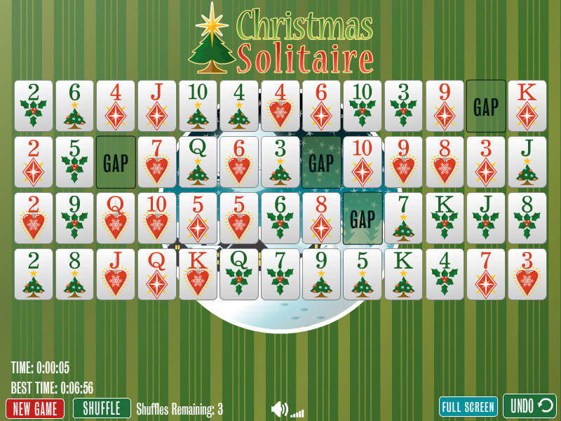 Click to view Christmas Gaps Solitaire 1.0 screenshot