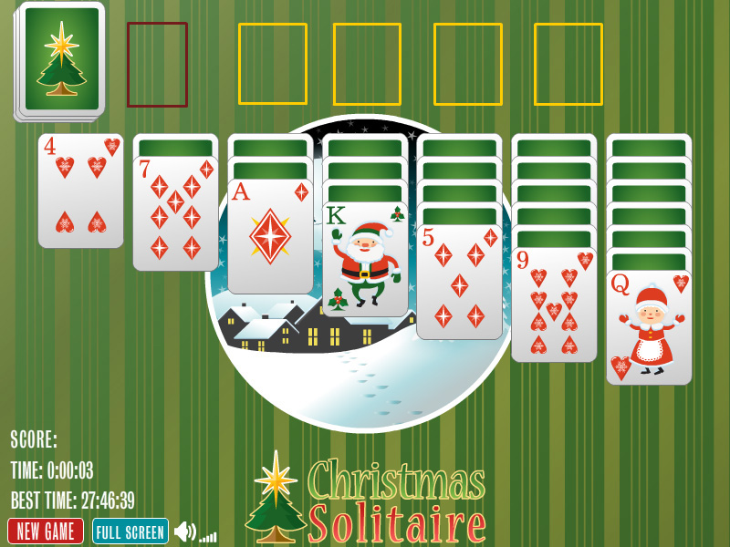Click to view Christmas Solitaire 1.0 screenshot